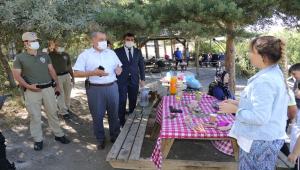 Yozgat'ta Çamlık Milli Parkı'nda piknik yapanlar, orman yangınlarına karşı uyarıldı