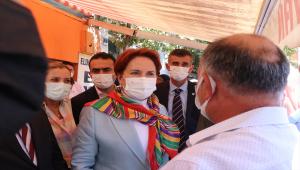 İYİ Parti Genel Başkanı Akşener, Çankırı'da esnafı ziyaret etti: