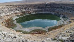 Konya Ovası'ndaki Timraş Obruk Gölü'nde su seviyesi dibe vurdu