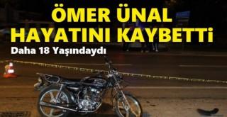 Karaman'da devrilen motosikletin sürücüsü yaşamını yitirdi