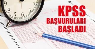 KPSS başvuruları başladı!