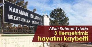 27 Eylül Karaman'da vefat edenler