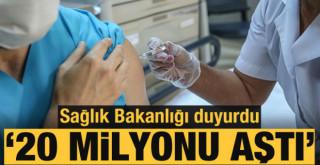 Sağlık Bakanlığı duyurdu: Uygulanan aşı miktarı 20 milyonu aştı