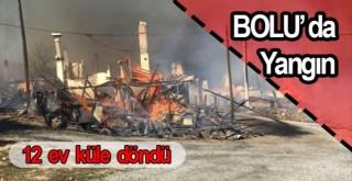 Bolu'da yangın: 12 ev küle döndü