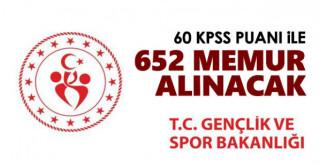 GSB memur alımı ilanı yayınlandı! 60 KPSS puanı ile personel alımı yapılacak! İşte şartlar...