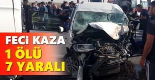 Konya'da trafik kazası: 1 ölü, 7 yaralı