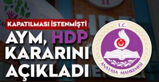 AYM'den son dakika HDP kararı