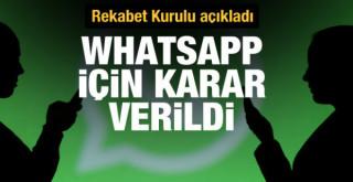 Rekabet Kurulu'ndan WhatsApp kararı