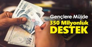 Maddi sıkıntı yaşayan gençlere 350 milyonluk destek