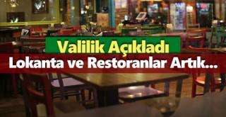 Lokanta ve Restoranlar İçin Yeni Karar Alındı