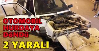 Karaman'da trafik kazasında 2 kişi yaralandı