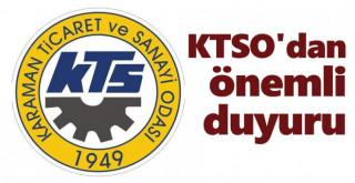 KTSO'dan önemli duyuru