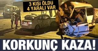 Antalya'da Feci Kaza: 3 ölü 4 yaralı