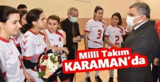 Vali Işık, Karaman'da Kampa Giren Milli Takımı Ziyaret Etti