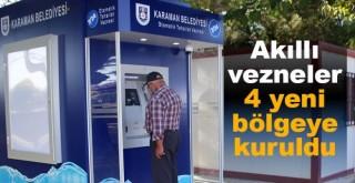 Karaman'da Dört Farklı Bölgeye Akıllı Vezne Kuruldu