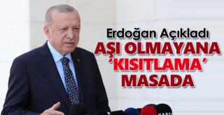 Erdoğan Açıkladı! Aşı Olmayanlara Kısıtlama Masada