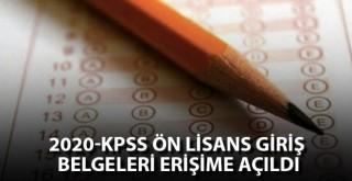 2020 KPSS Ön Lisans giriş belgeleri erişime açıldı