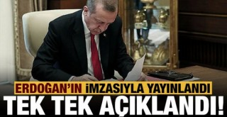 Başkan Erdoğan'ın imzasıyla Resmi Gazete'de yayımlandı: 2021 Yılı Yatırım Programı!