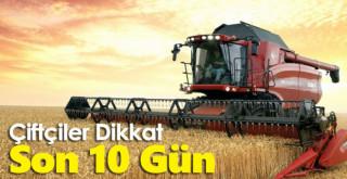 Çiftçi Kayıt Sistemi başvuruları için son 10 gün!