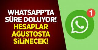 WhatsApp için son 9 gün! hesaplar silinecek