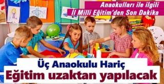Karaman'da üç anaokulu hariç eğitim-öğretim uzaktan yapılacak