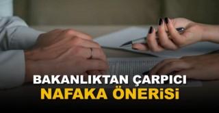 Adalet Bakanlığı'ndan çarpıcı nafaka önerisi