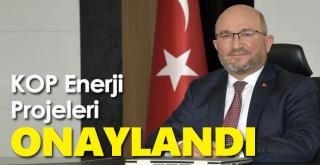 Bakan Varank, KOP Enerji Projelerini Onayladı