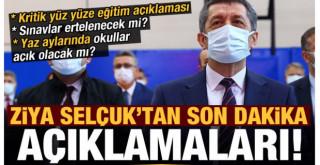 Ziya Selçuk'tan canlı yayında yüz yüze eğitim ve sınav açıklaması!