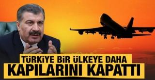 Mutasyonlu virüs nedeniyle Türkiye bir ülkeye daha kapılarını kapattı