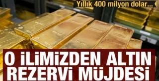 Erzurum'a altın rezervi müjdesi