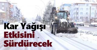 Karaman ve Konya'da kar yağışı etkisini sürdürecek