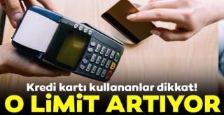Temassız kartlarda şifresiz işlem limiti 350 TL'ye yükseliyor