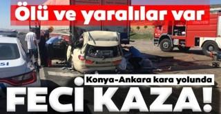 Ankara-Konya karayolunda feci kaza: 5 ölü