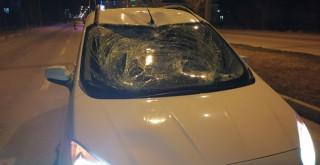 Ereğli'de kamyonetin çarptığı yaya ağır yaralandı