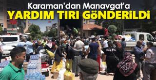 Karaman'dan Manavgat'a yardım tırı gönderildi