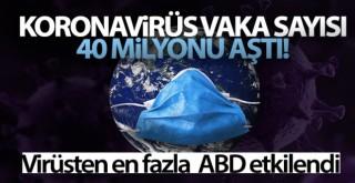 Dünya genelinde korona vaka sayısı 40 milyonu aştı
