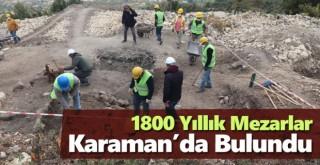 Karaman'daki kazılarda Roma dönemine ait sarnıç ve kale surları ortaya çıkarıldı