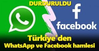 Türkiye'den WhatsApp ve Facebook hamlesi! Soruşturma başlatıp, durduruldu