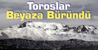 Konya'yı çevreleyen dağlar beyaza büründü