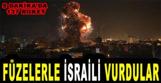 Füzelerle İsrail'i vurdular
