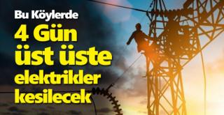 Karaman'ın bu köylerinde art arda 4 gün elektrikler gidecek!