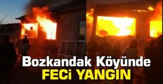 Bozkandak Köyünde Feci Yangın
