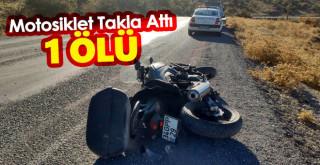 Konya'da takla atan motosikletin sürücüsü öldü
