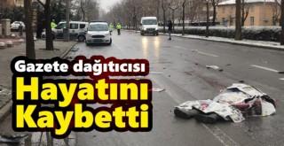 Motosikletli gazete dağıtıcısı kazada yaşamını yitirdi