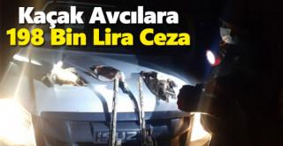 Karaman'da kaçak avcılara 198 bin lira ceza