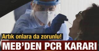 Milli Eğitim Bakanlığından PCR test kararı