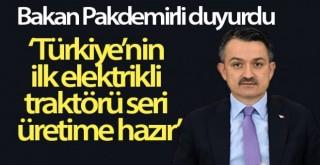 Türkiye'nin ilk elektrikli traktörü seri üretime hazır