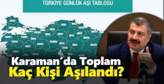Karaman'da kaç kişi aşılandı? İşte güncel harita